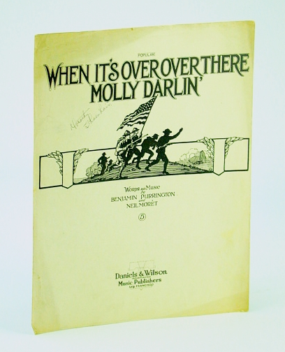 Image for When It's Over Over There Molly Darlin' (Darling): Sheet Music for Voice and Piano