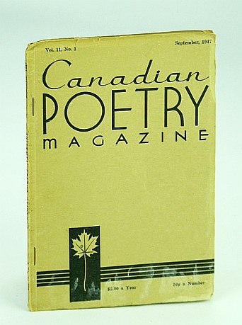 Image for Canadian Poetry Magazine, September (Sept.) 1947, Vol. 11, No. 1