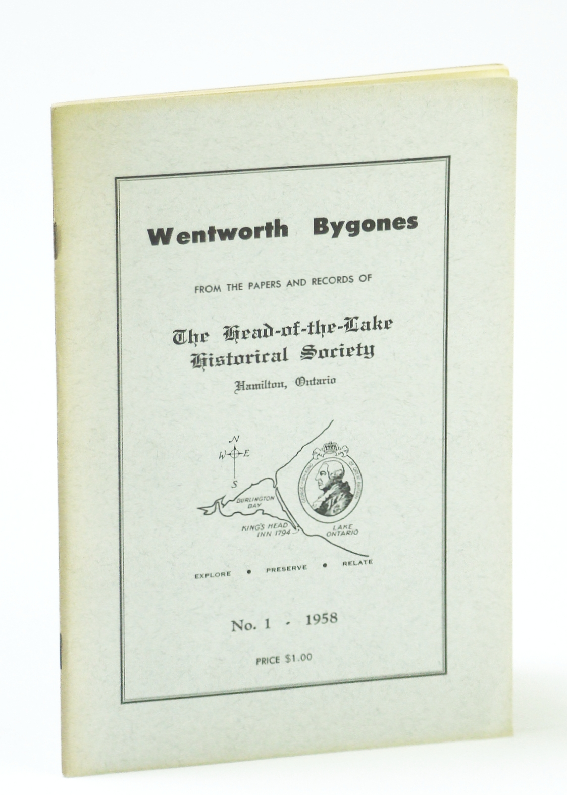 Image for Wentworth Bygones: From the Papers and Records of The Head-of-the-Lake Historical Society, No. 1 (One) 1958