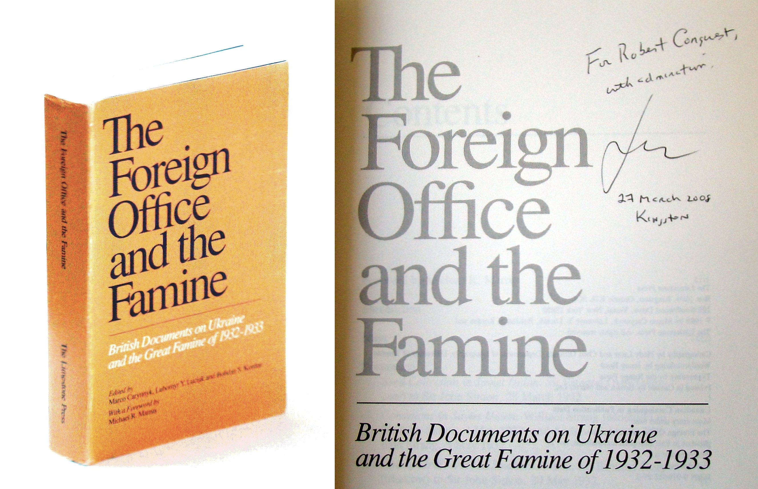 The Foreign Office and the famine: British documents on Ukraine and the great famine of 1932-1933