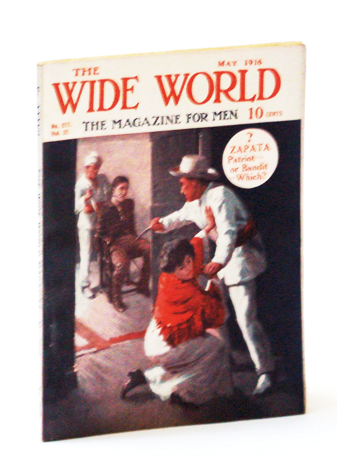 """Image for The Wide World  - The Magazine For Men, May 1916, No. 217, Vol. 37 - """"Strafing"""" a Zeppelin / Our Escape from """"German West"""""""