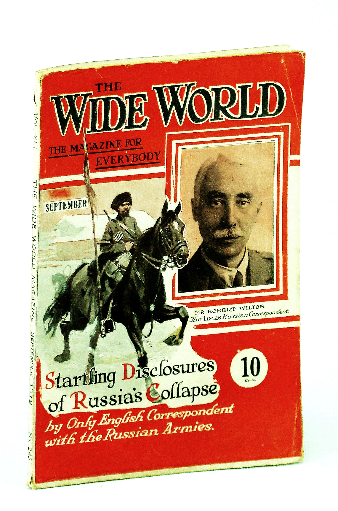 Image for The Wide World Magazine, September (Sept.) 1918 - Cover Photo of Robert Wilton Who Provides Startling Disclosures of Russia's Collapse