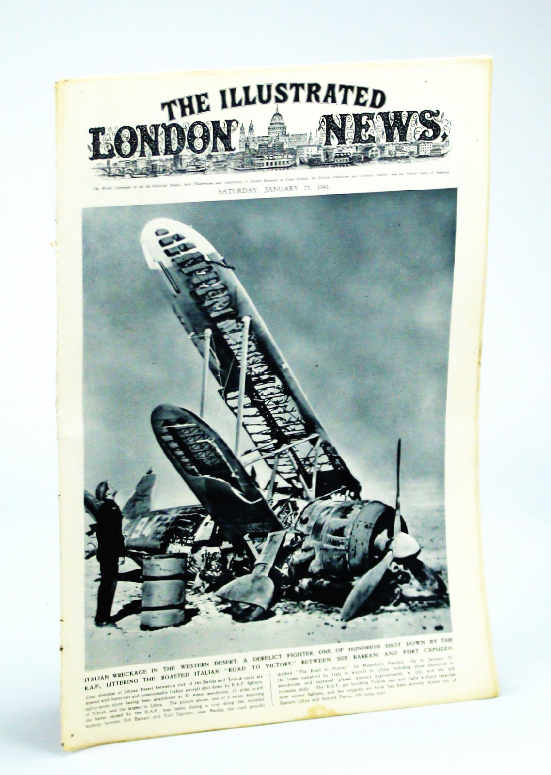 Image for The Illustrated London News, Saturday, January [Jan.] 25,1941 - Photos of the Fall of Argyrokastro