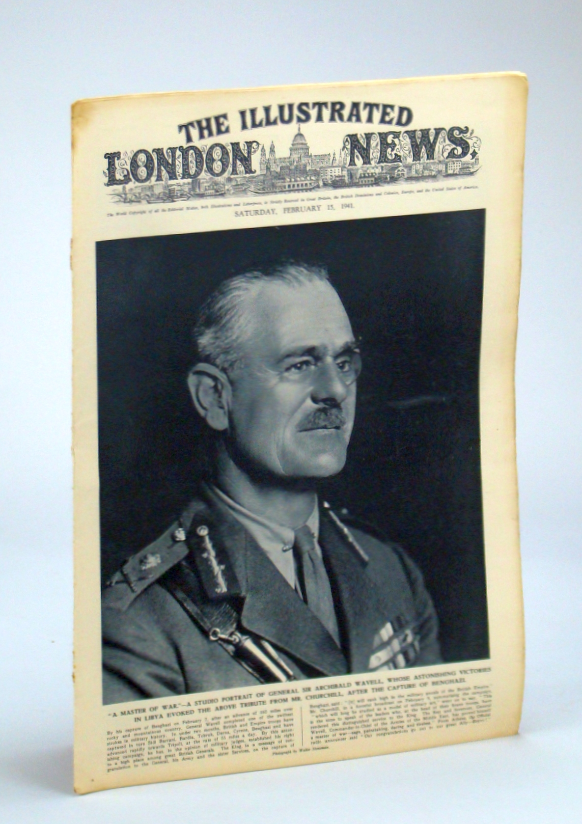 Image for The Illustrated London News, Saturday, February [Feb.] 15, 1941 - Sir Archibald Wavell Cover Photo