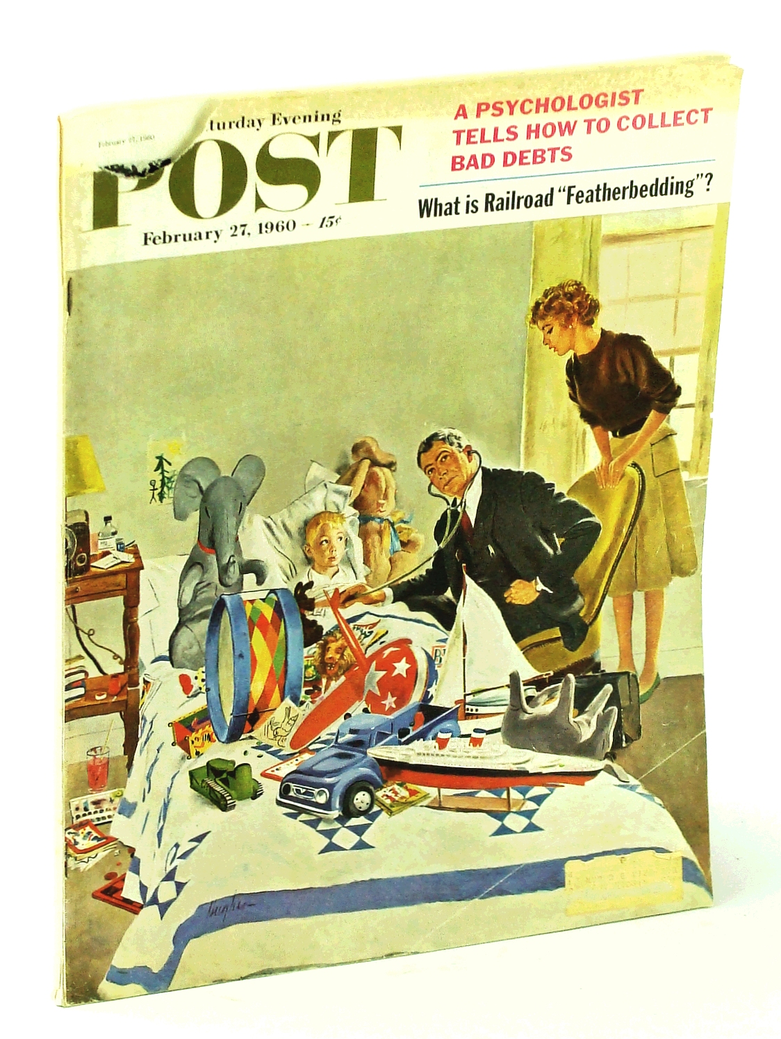 Image for The Saturday Evening Post, February [Feb.] 27, 1960, Volume 232, Number 35 - Norman Rockwell's Adventures as an Illustrator (Part 3) / Palm Springs / X-15 Test Pilot