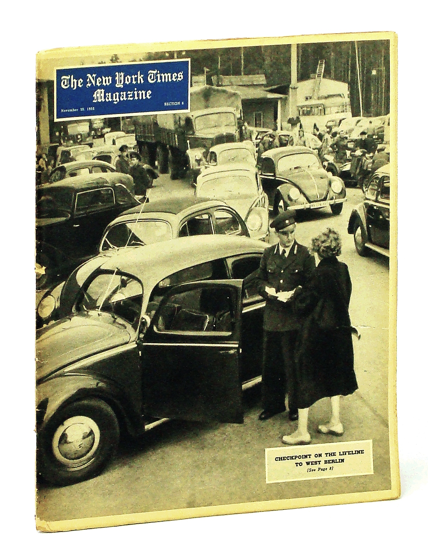 Image for The New York Times Magazine, November [Nov.] 30, 1958: Berlin Beleaguered / Robert Frost / Balanchine / Arthur C. Clarke