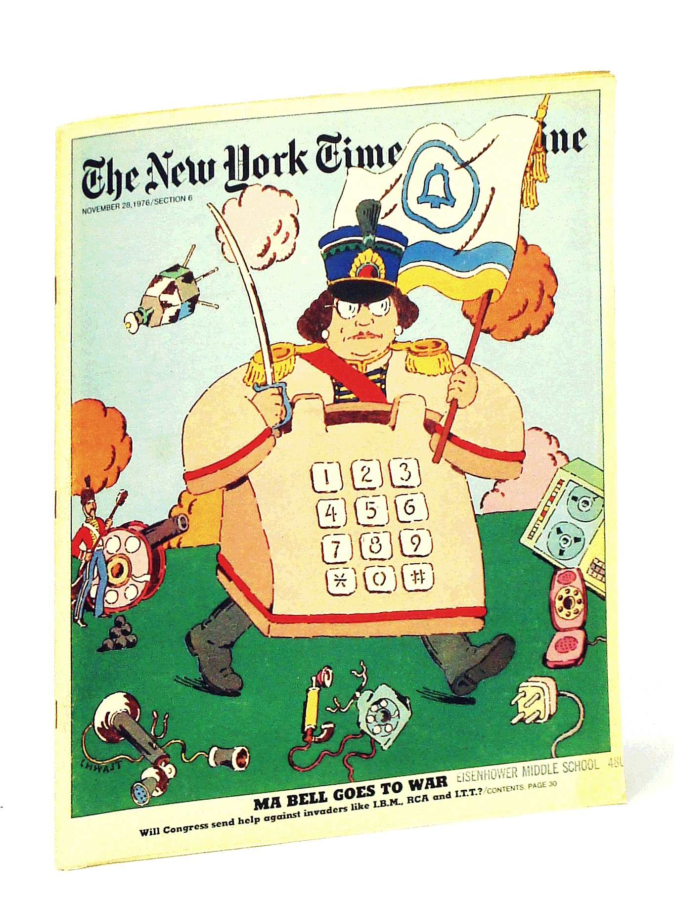 Image for The New York Times Magazine, November [Nov.] 28, 1976:  Ma Bell Fights For Her Monopoly