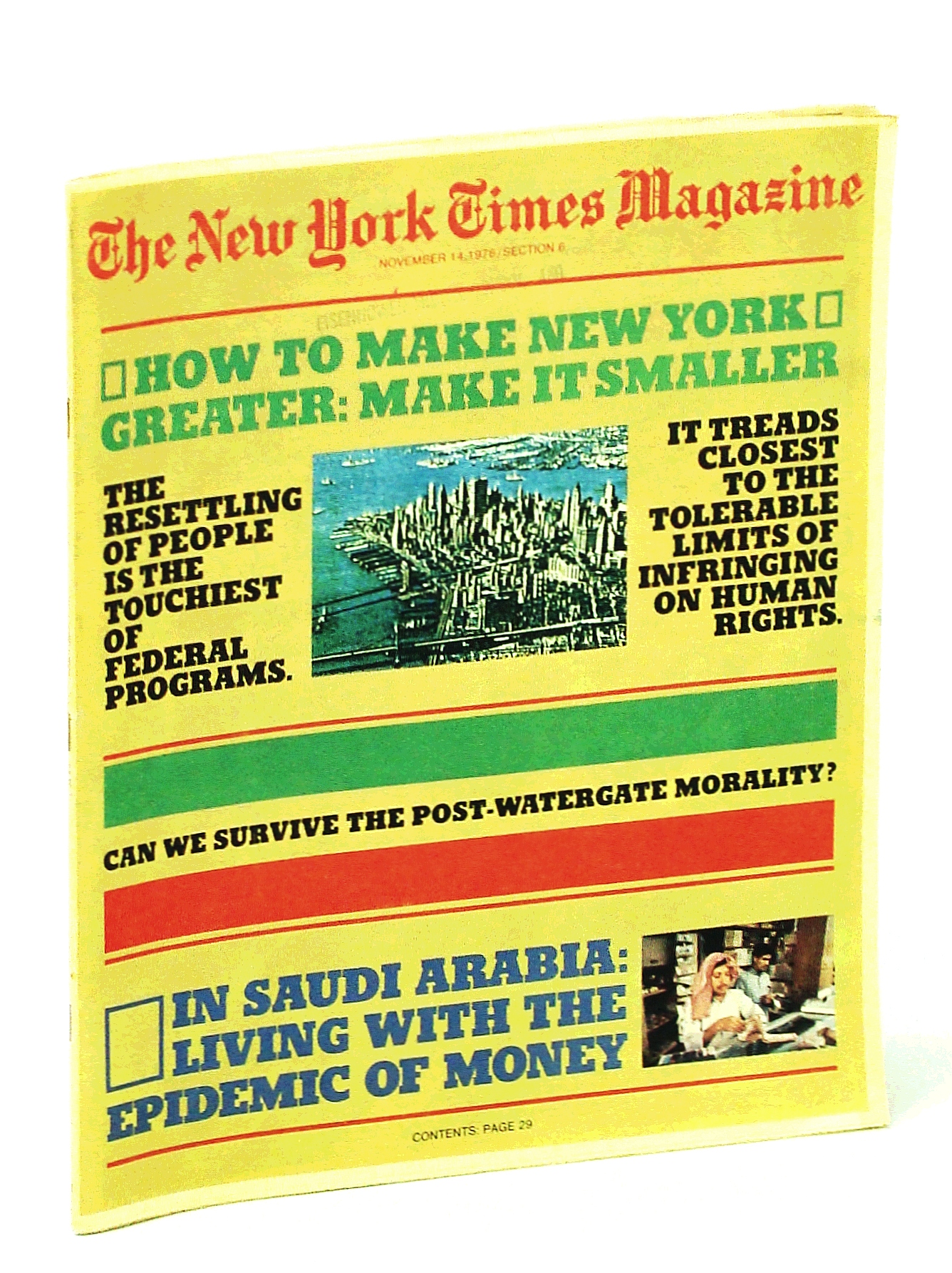 Image for The New York Times Magazine, November [Nov.] 14, 1976:  Make New York Great - Make it Smaller!