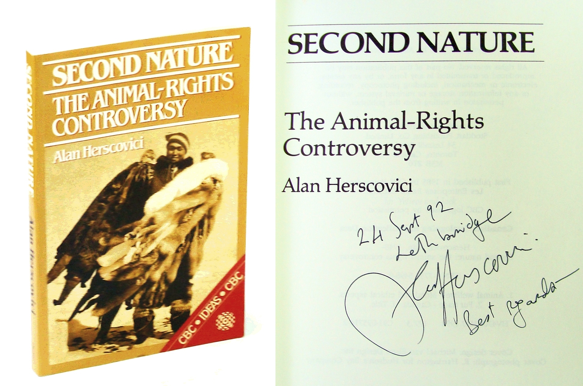 Image for Second nature: The animal-rights controversy