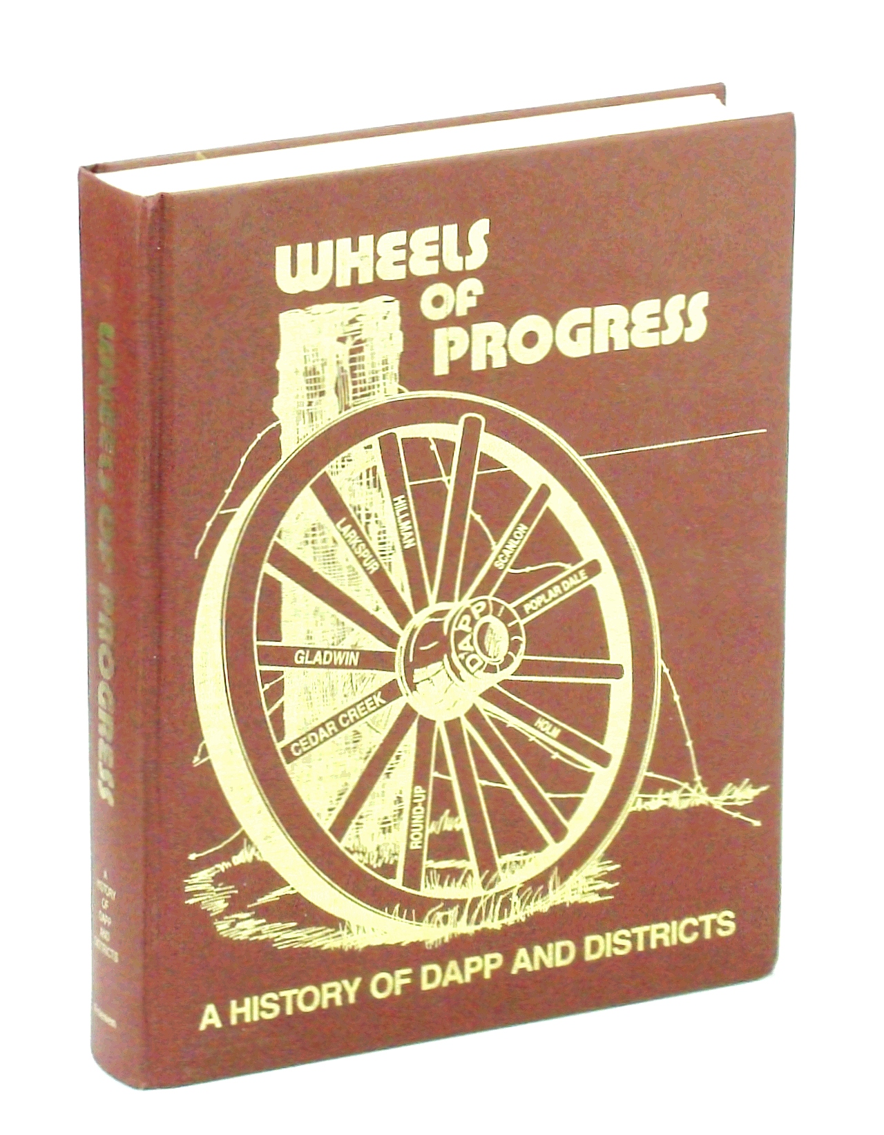 Image for Wheels of Progress. A History of Dapp and Districts. Cedar Creek, Gladwin, Larkspur, Hillman, Scanlon, Poplar Dale, Holm, Round-Up.