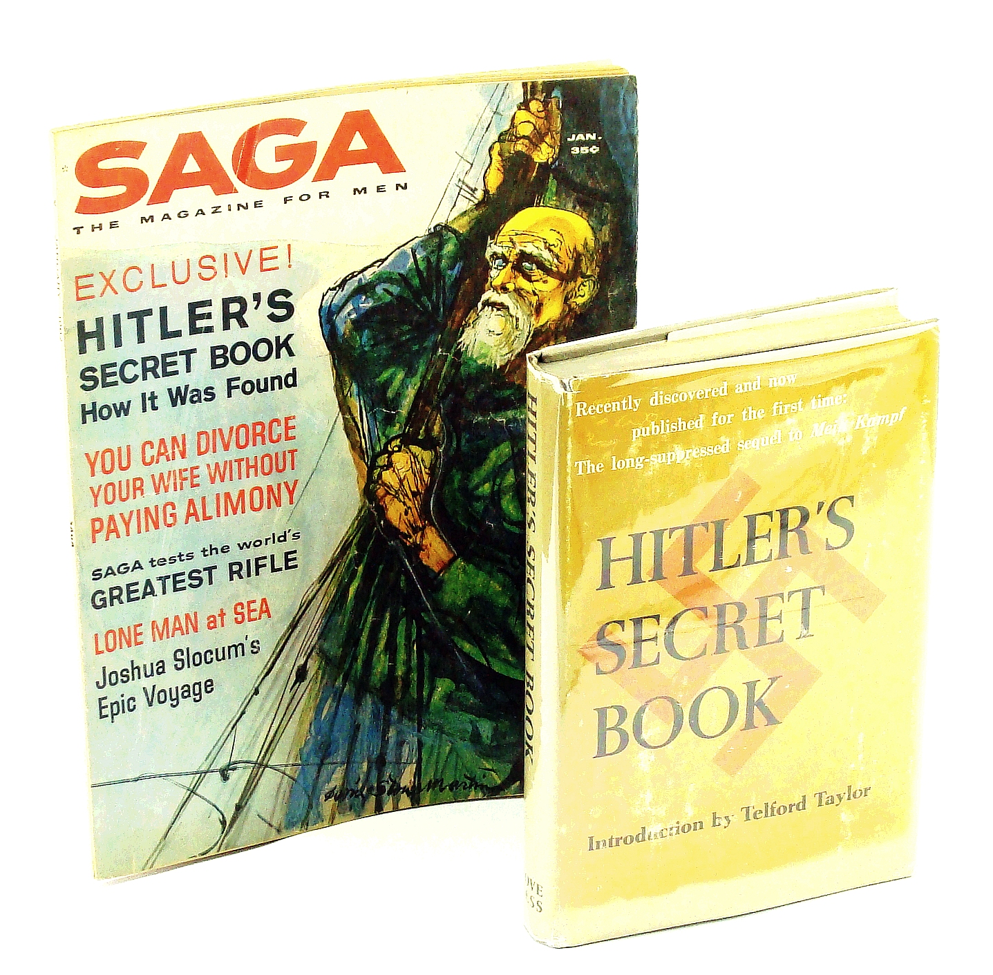 Image for Hitler's Secret Book (First Edition) + Saga Magazine, January 1962 Containing the Exclusive Story of How This Book Was Discovered
