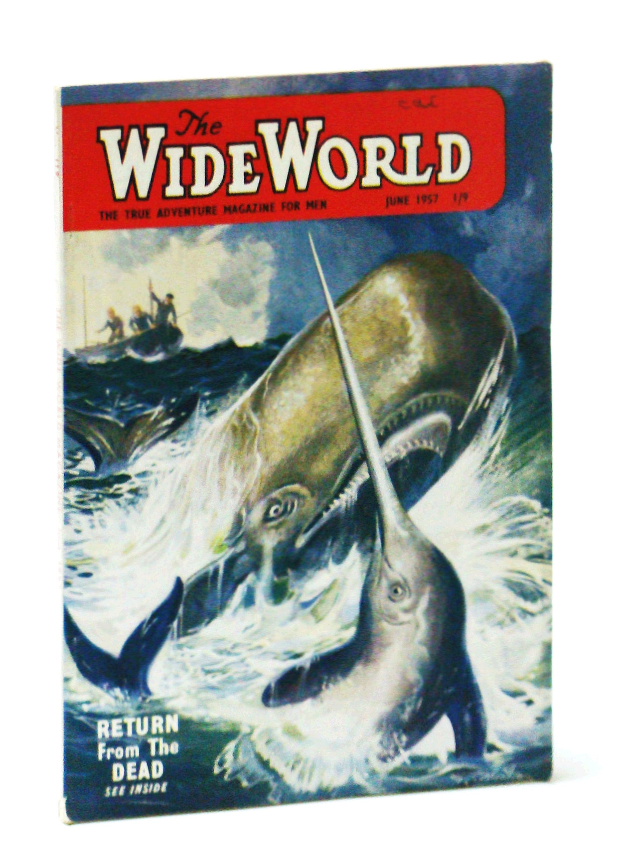 "Image for The Wide World - The True Adventure Magazine for Men, June 1957 - The Men of Site ""X"" / Carpet of Buffalo Bones"