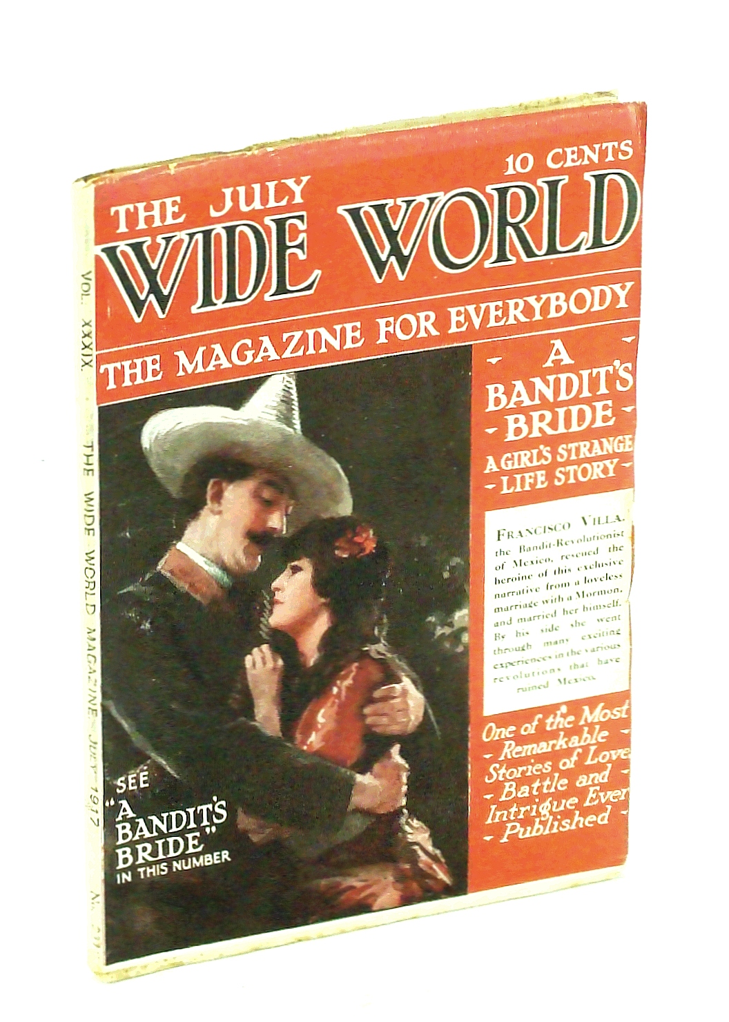 "Image for The Wide World, The Magazine for Men, July 1917, Vol. 39, No. 231: Francisco ""Pancho"" Villa's Bride"