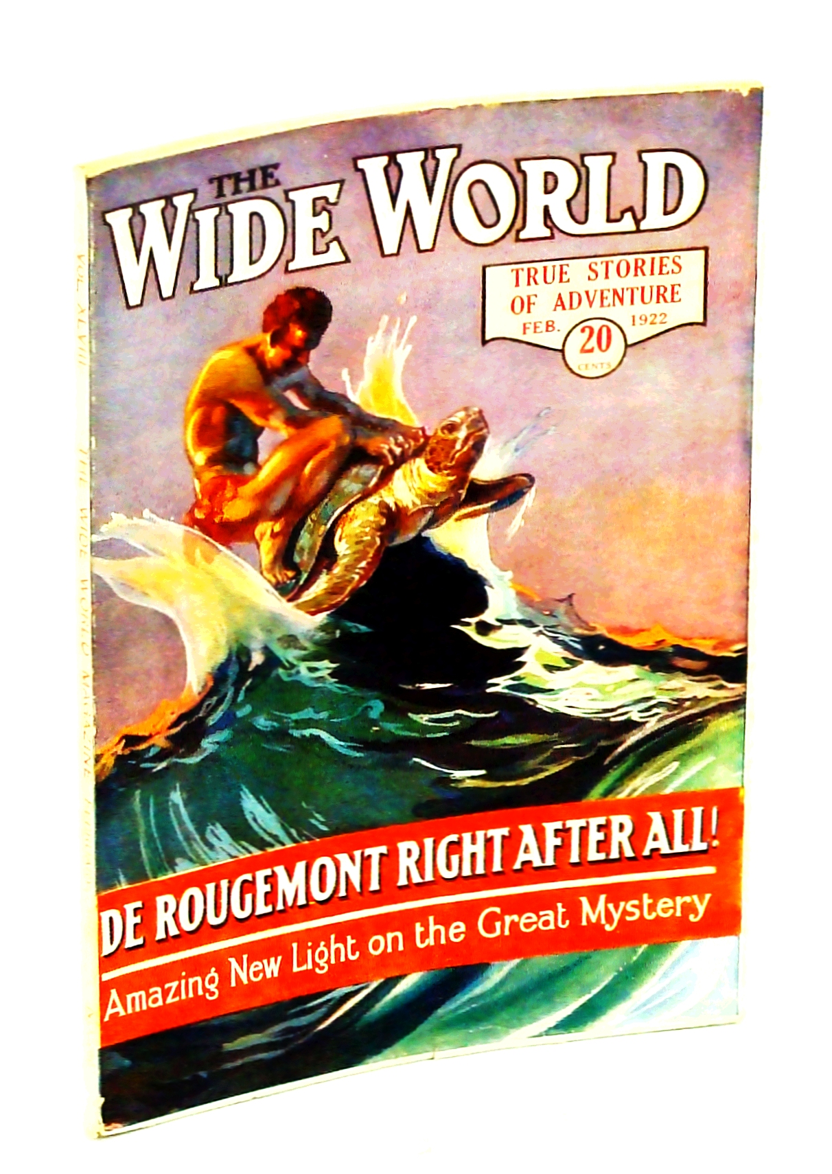 Image for The Wide World, True Stories of Adventure, February [Feb.] 1922, Vol. 48, No. 286: Battle with a Giant Conger Eel
