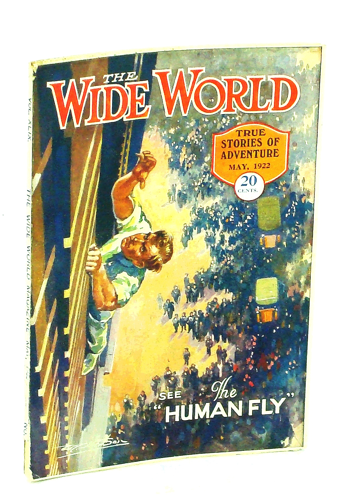 """Image for The Wide World, True Stories of Adventure, May 1922, Vol. 49, No. 289: Jack Williams is """"The Human Fly"""" (Cover Illustration)"""
