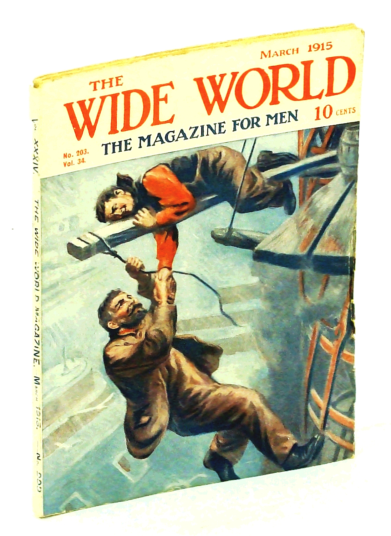 Image for The Wide World Magazine, March [Mar.] 1915, Vol. 34, No. 203: Our Travels in Safari-Land / Crapsey, The Sky-Worker