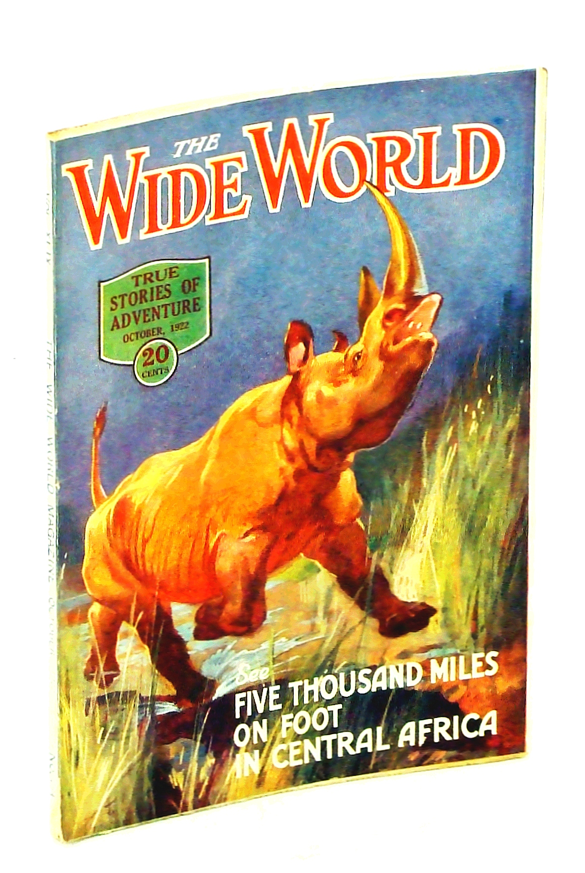 Image for The Wide World Magazine - True Stories of Adventure, October [Oct.] 1922, Vol. 49, No. 294: Five Thousand Miles on Foot in Central Africa