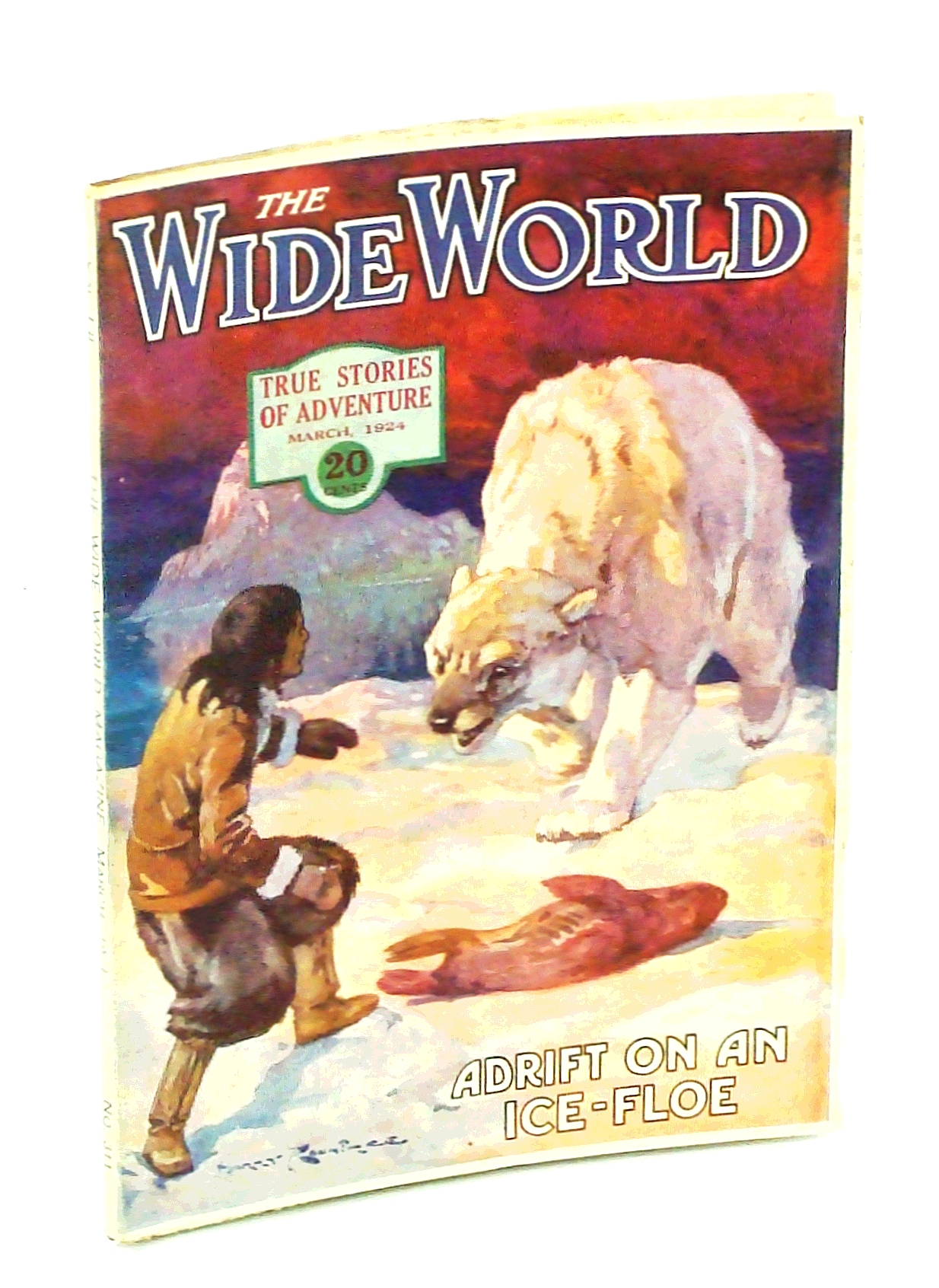 Image for The Wide World Magazine - True Stories of Adventure, March [Mar.] 1924, Vol. LII, No. 311: Adrift on an Ice-Floe
