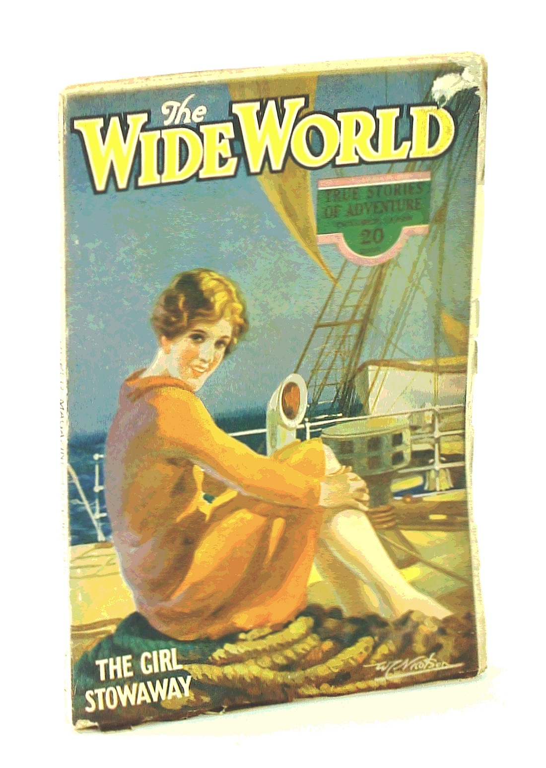 """Image for The Wide World Magazine - True Stories of Adventure, October [Oct.] 1928, Vol. LXI, No. 366: Cycling Round the World / The """"Teak-Wallahs"""" of Northern Siam"""