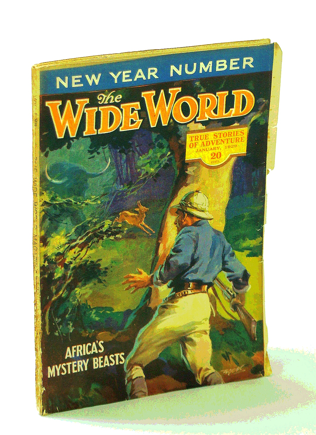 Image for The Wide World Magazine, True Stories of Adventure, January [Jan.] 1929, Vol. LXII, No. 369: