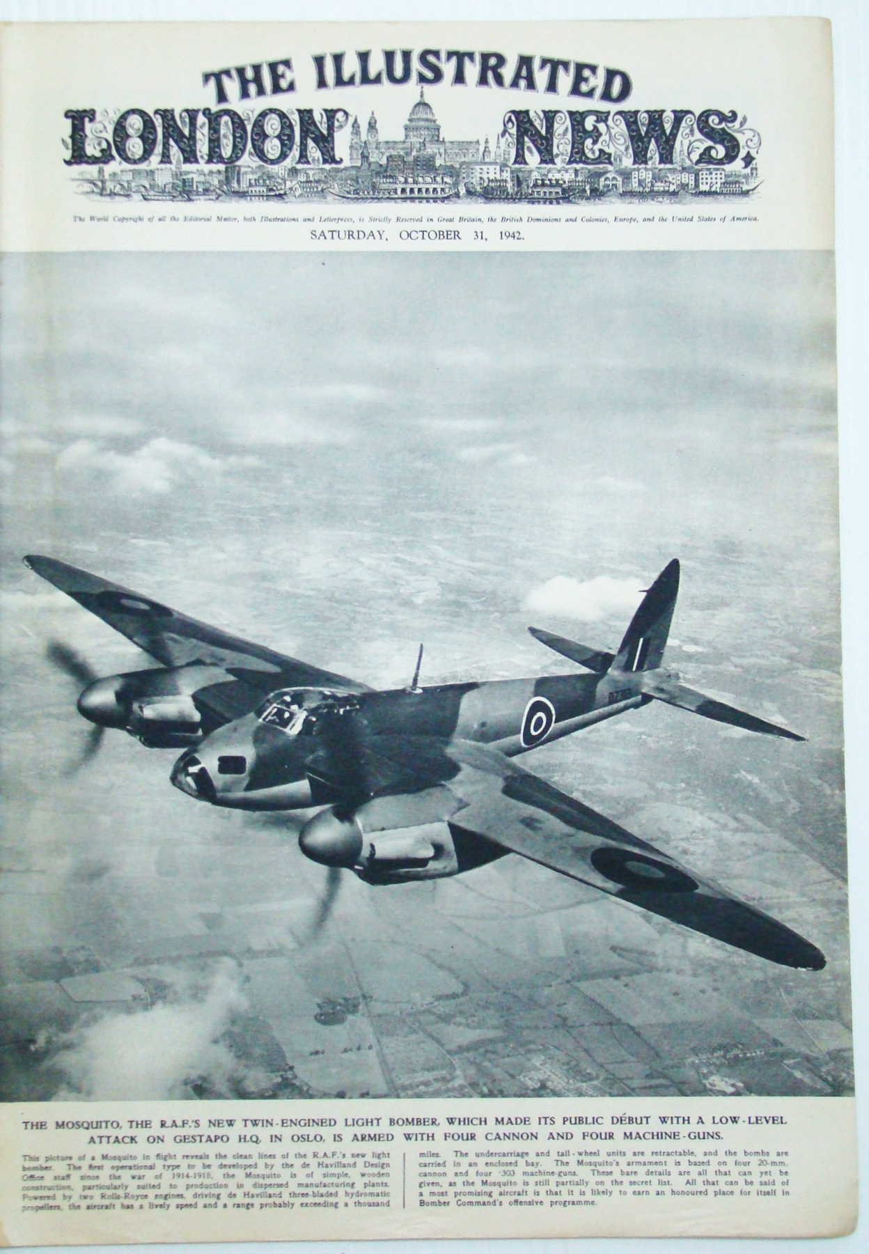 Image for The Illustrated London News (ILN), October (Oct.) 31, 1942 - Montgomery in Africa / Stalingrad