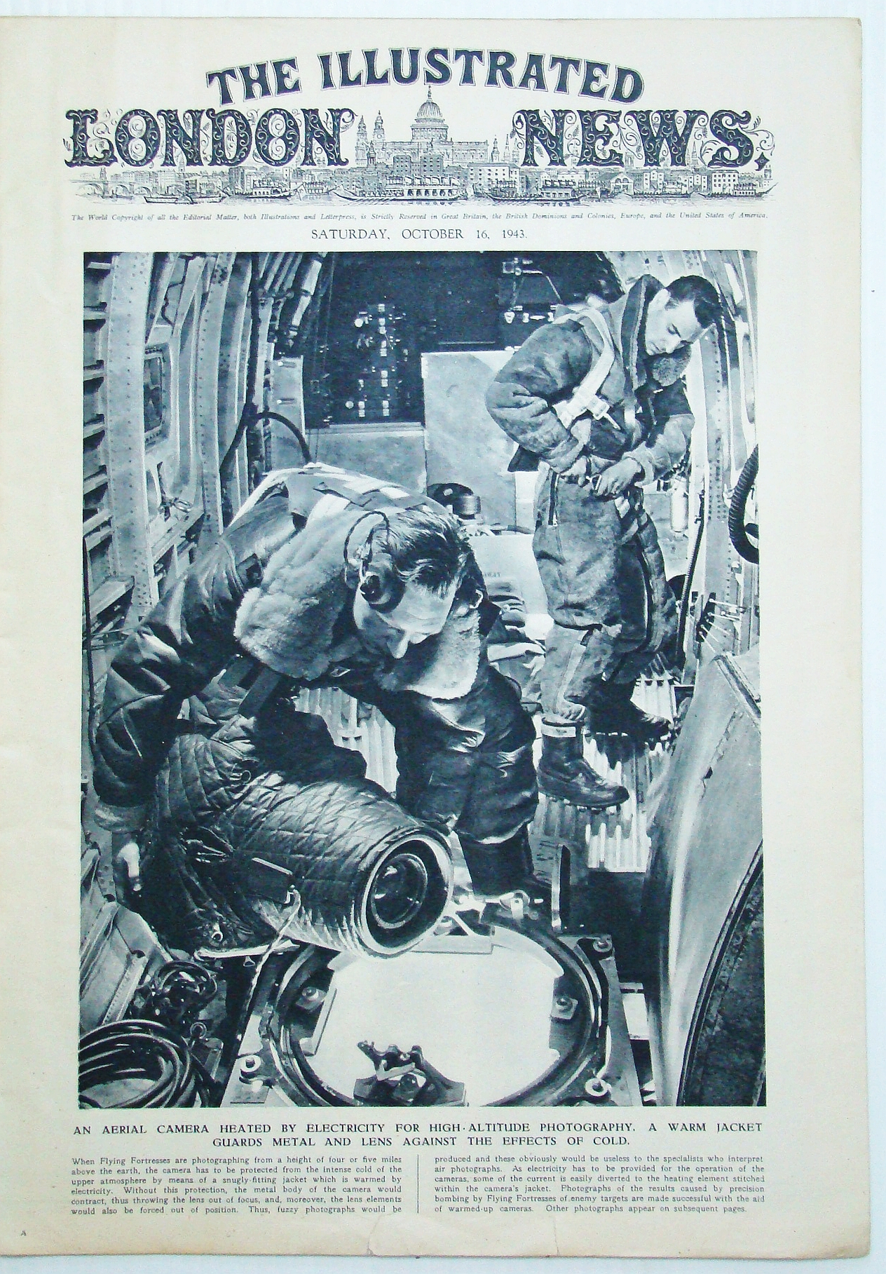 Image for The Illustrated London News (ILN), October (Oct.) 16, 1943- Aerial Photography