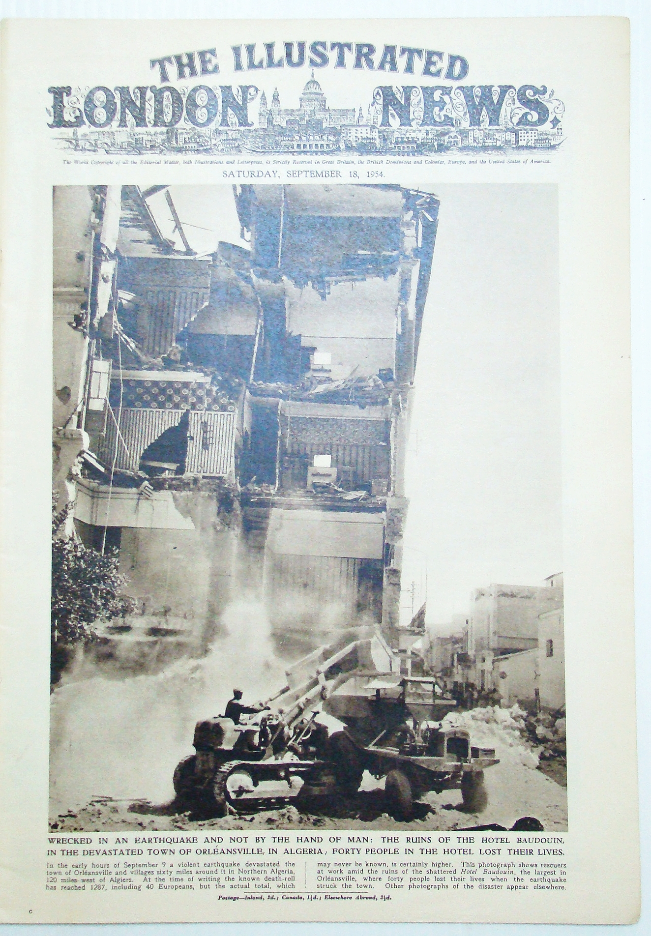 Image for The Illustrated London News (ILN), September (Sept.) 18, 1954: Formosa (Taiwan) Prepares for Communist Invasion