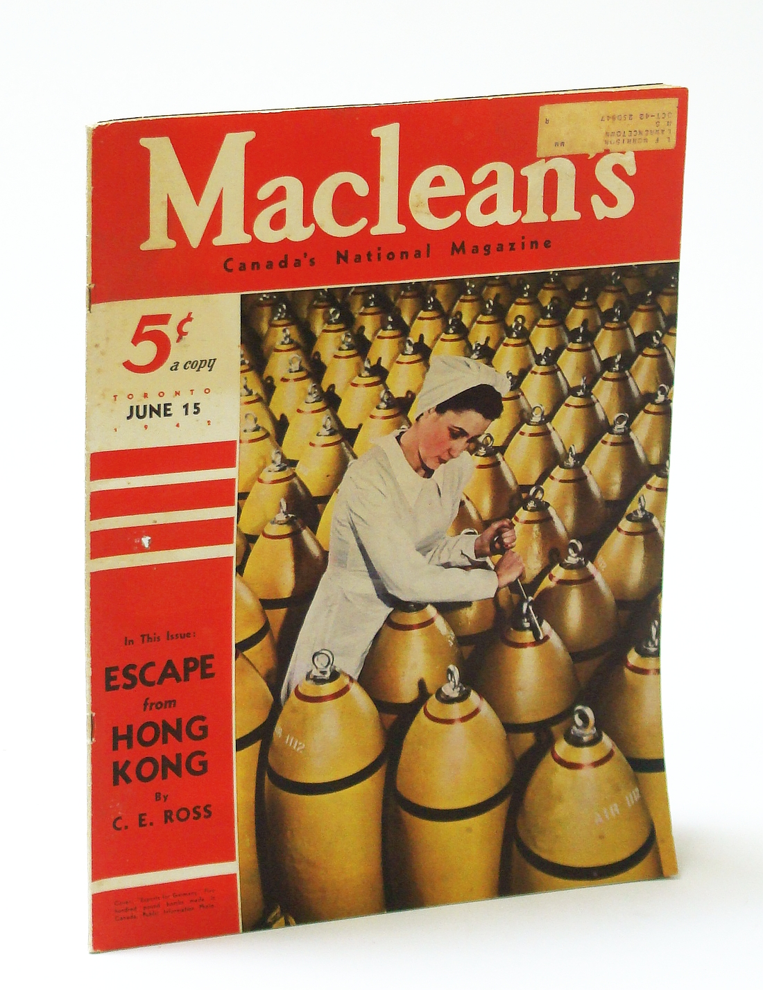 Image for Maclean's, Canada's National Magazine, June 15, 1942, Vol. 55, No. 12 - Escape From Hong Kong