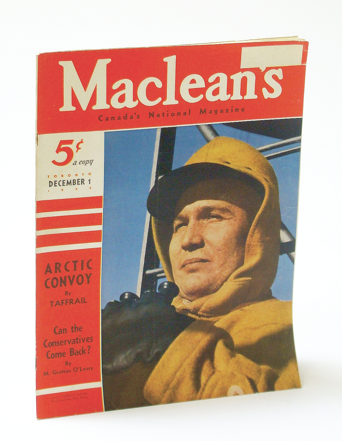 Image for Maclean's, Canada's National Magazine, December (Dec.) 1 1942, Vol. 55, No. 23 - Arctic Convoy / Elissa Landi of Vancouver