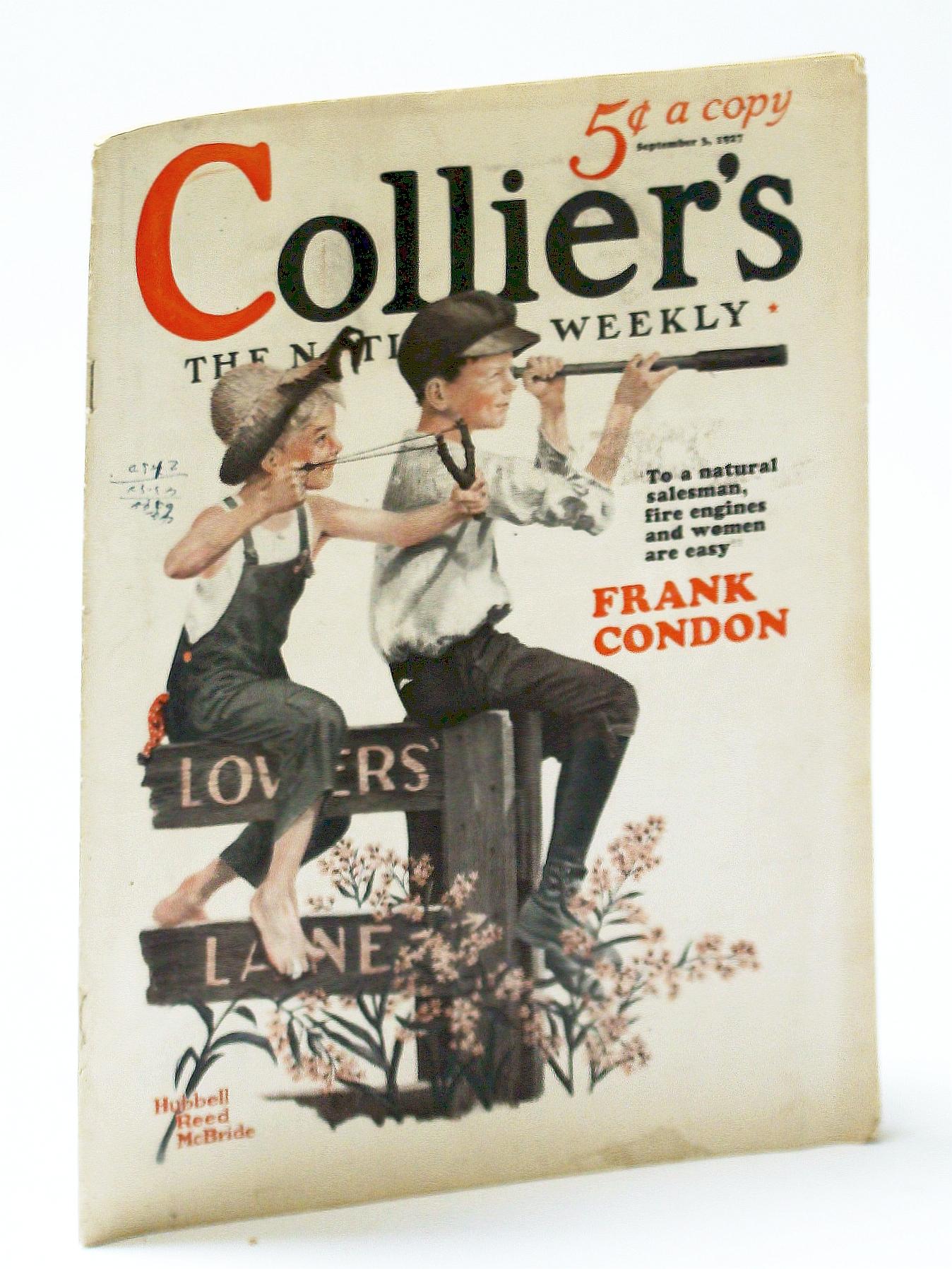 Image for Collier's - The National Weekly (Magazine), September (Sept.) 3, 1927, Vol. 80, No. 10: Commander Richard E. Byrd on Aviaton Safety / John Erskine