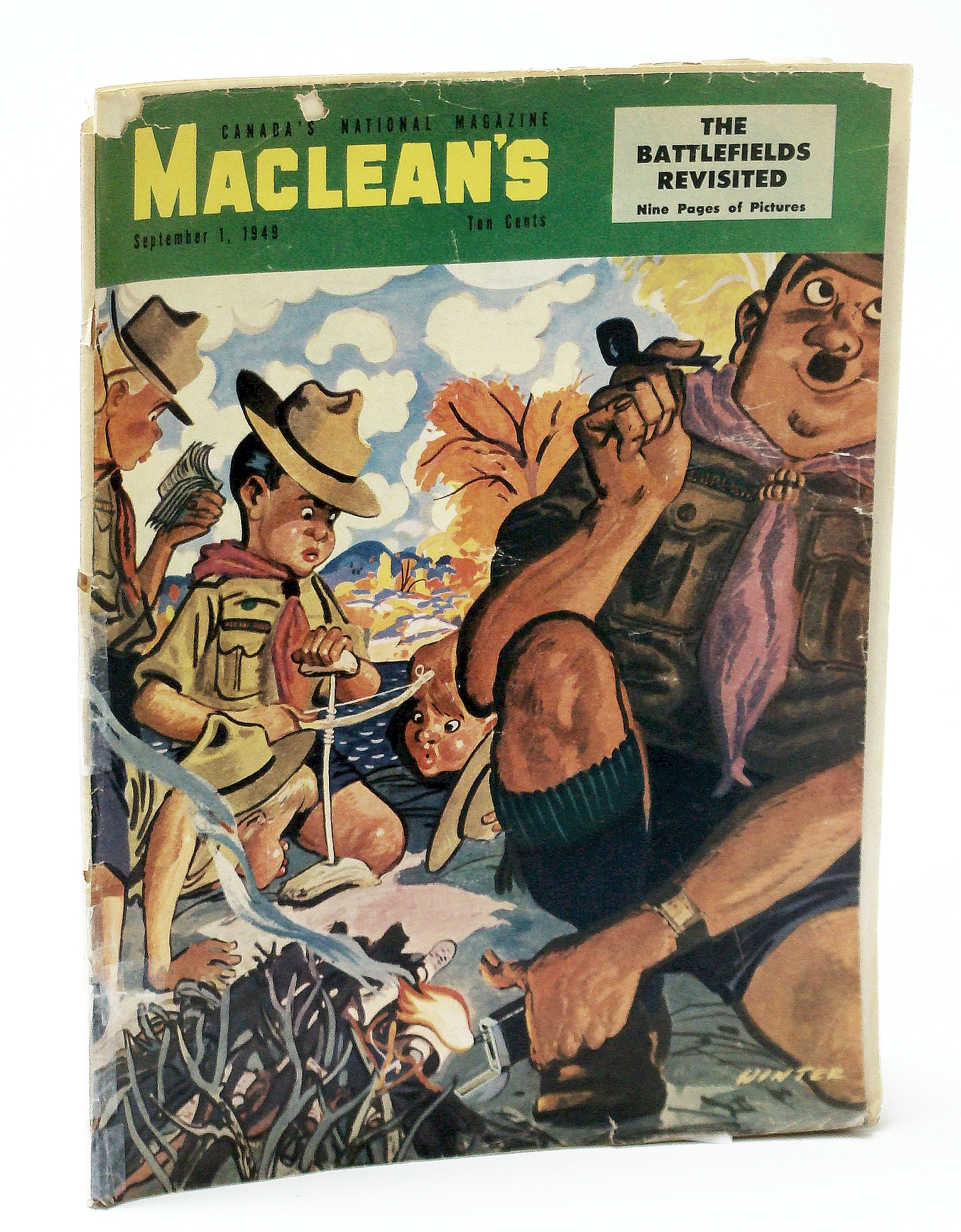 Image for Maclean's, Canada's National Magazine, September (Sept.) 1, 1949 - How They Solved the Northern Lights Mystery / George Young, Yesterday's Hero