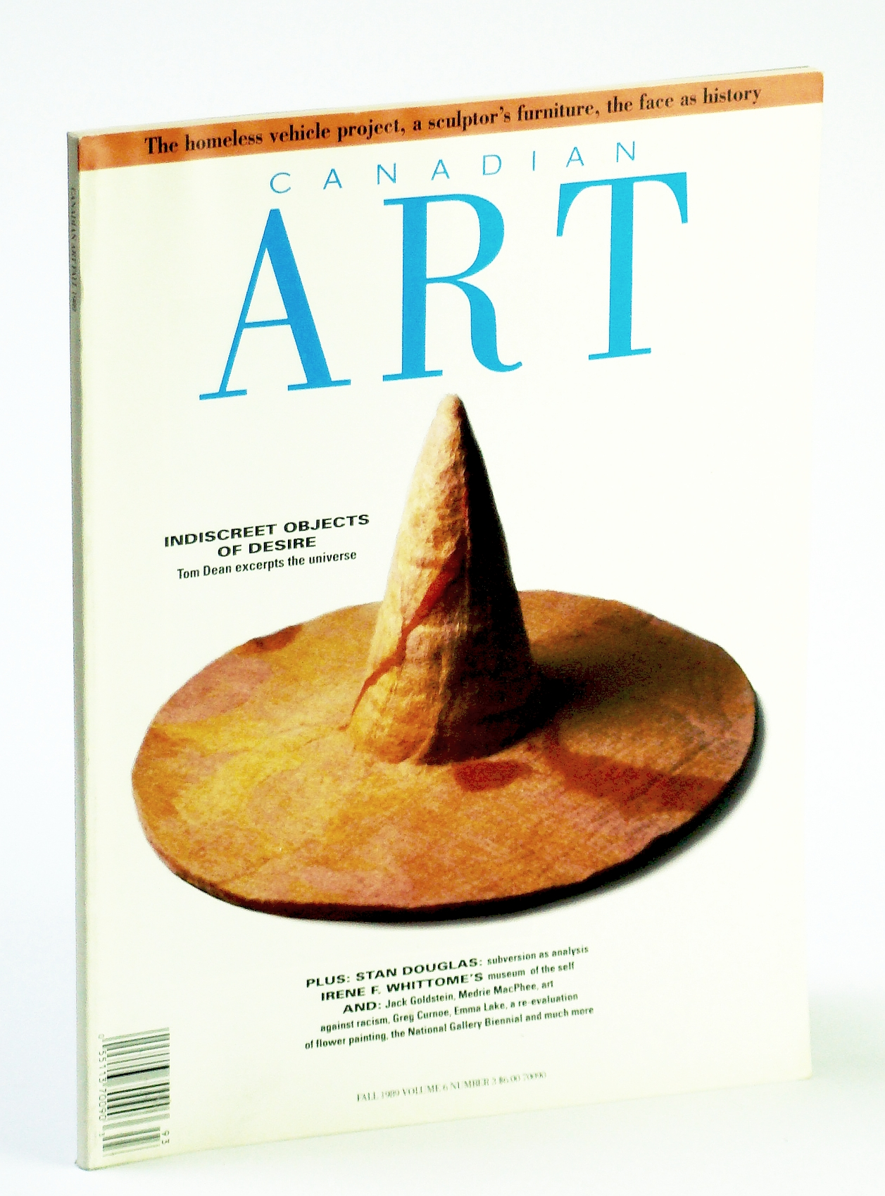 Image for Canadian Art (Magazine), Fall 1989, Volume 6, Number 3 - The Homeless Vehicle Project / A Sculptor's Furniture / The Face as History