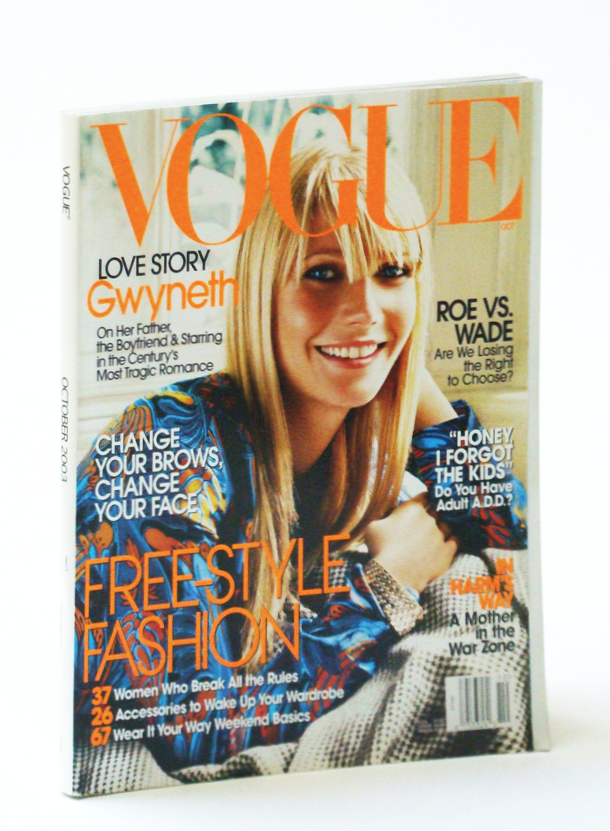 Image for Vogue (American) Magazine, October (Oct.) 2003 - Gwyneth Paltrow Cover