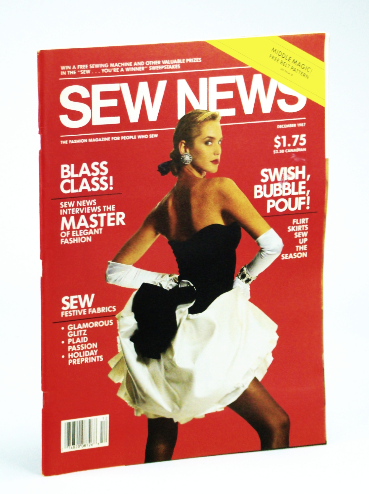 Image for Sew News - The Fashion Magazine For People Who Sew, Number 63, December [Dec.], 1987 - Carolina Herrera Cover / Bill Blass Interview