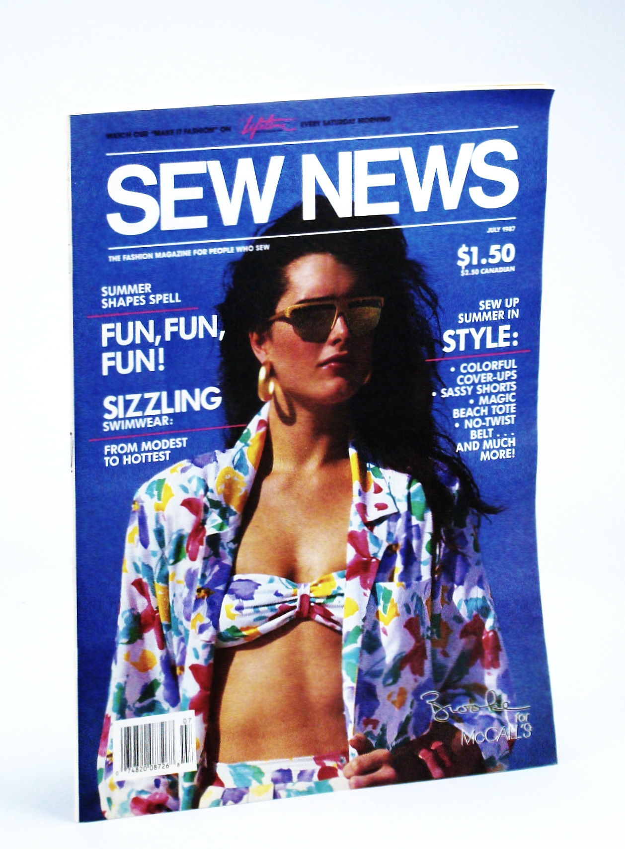 Image for Sew News - The Fashion Magazine For People Who Sew, Number 58, July 1987 - Brooke Shields Cover