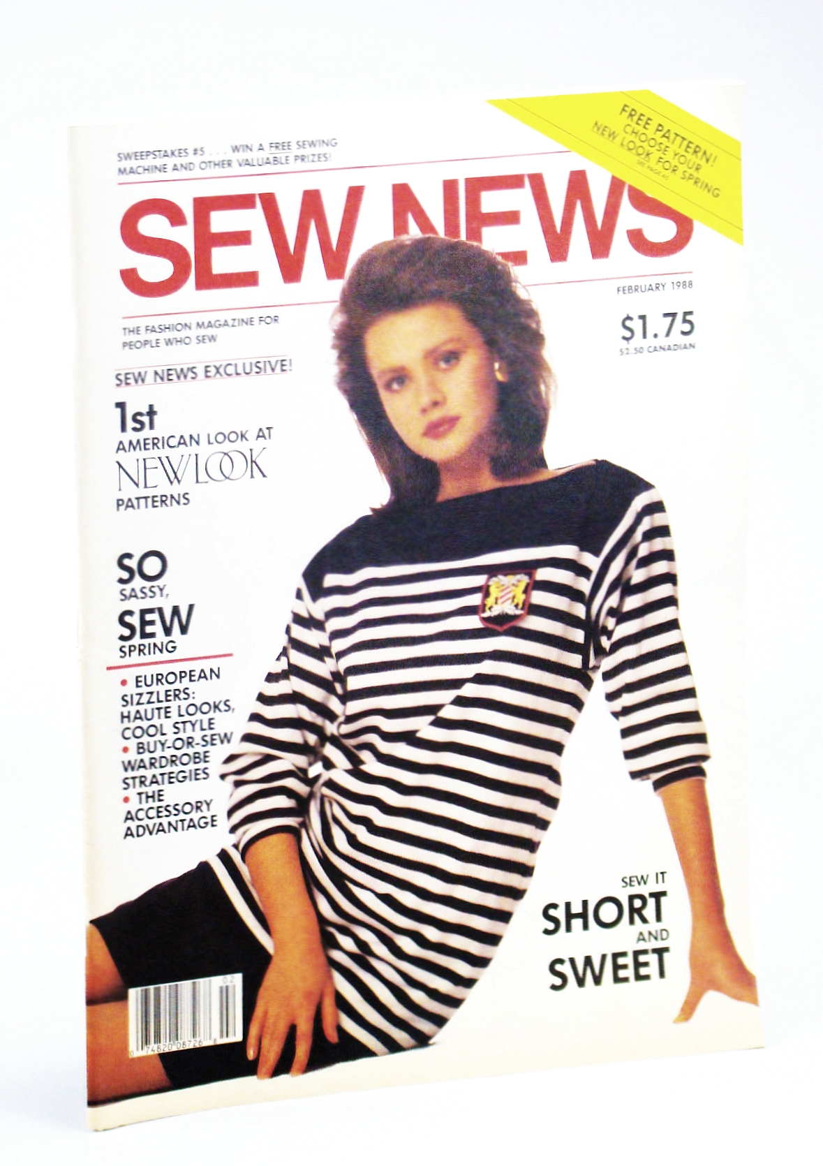 Image for Sew News - The Fashion Magazine For People Who Sew, Number 65, February [Feb.] 1988 - Diana McDermott