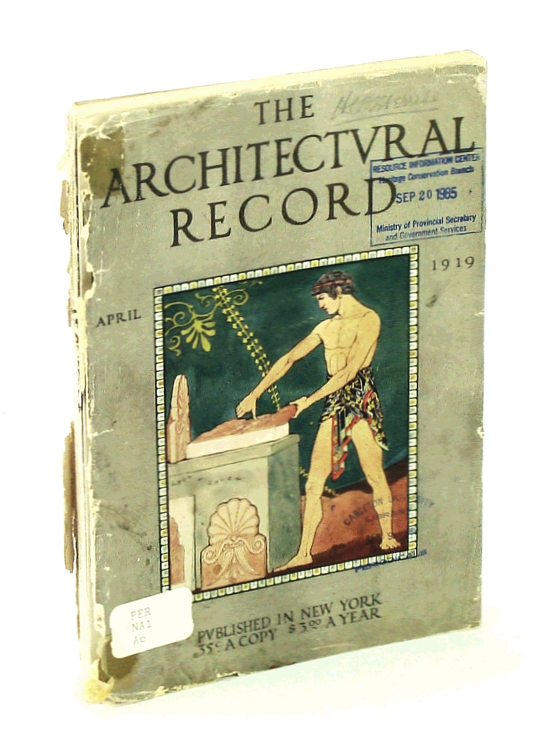 Image for The Architectural Record, April [Apr.] 1919, Vol. XLV, No. 4, Serial No. 247 - The Summer Home of George C. Nimmons / Leon V. Solon