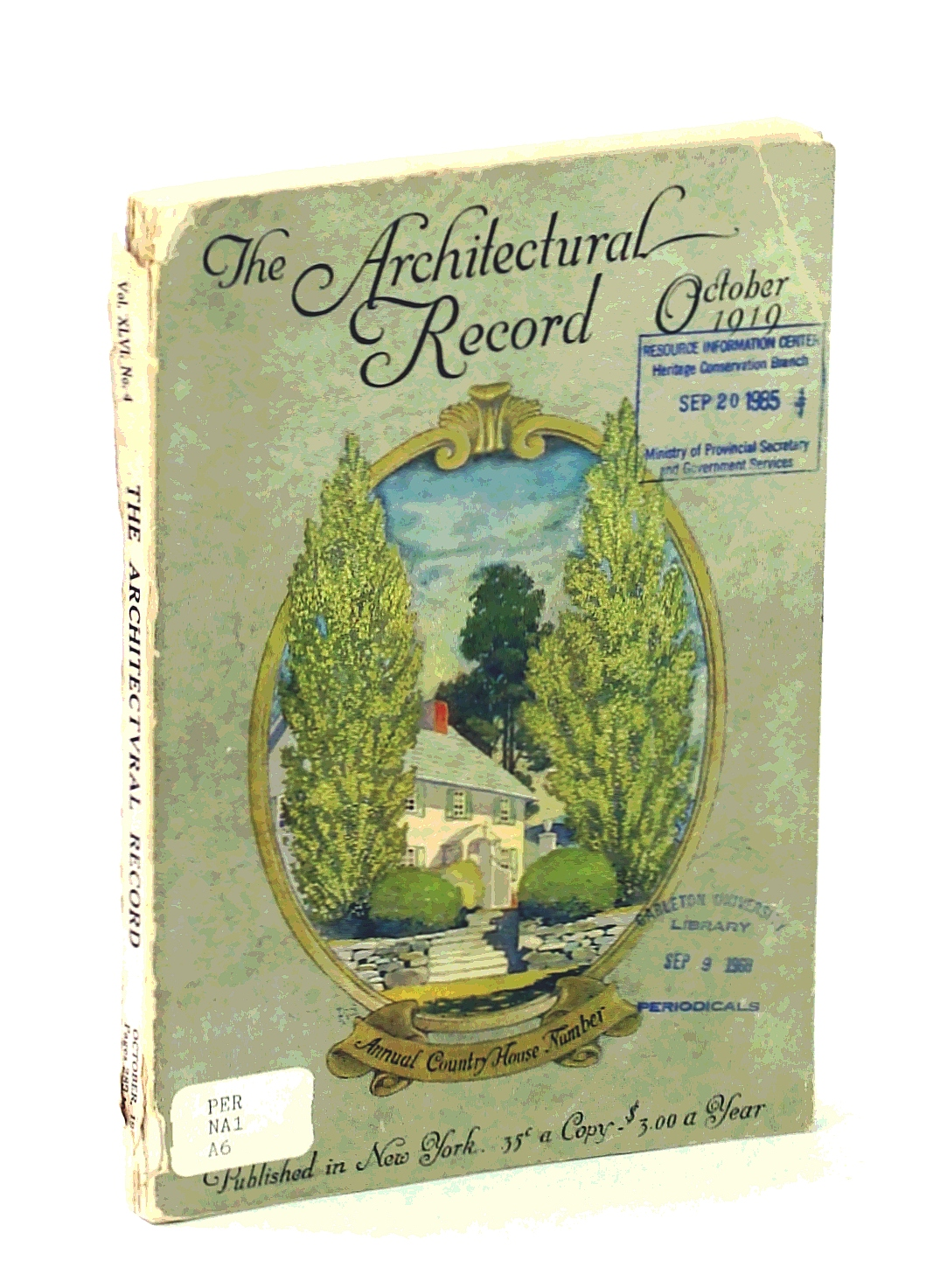 Image for The Architectural Record, Vol, XLVI, No. 4, October [Oct.] 1919, Serial No. 253 - The American Country House