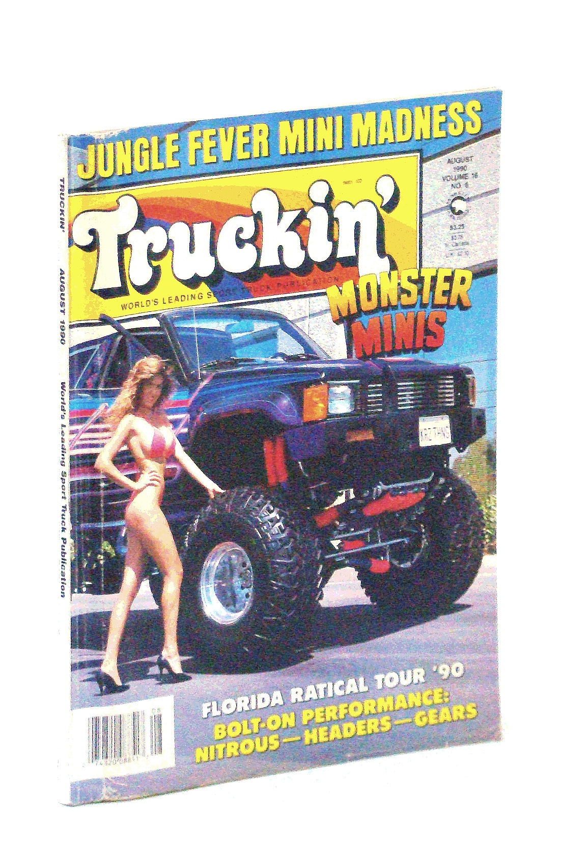 Image for Truckin' Magazine, August [Aug.] 1990: Monster Minis! / Traci Dali Cover Photo