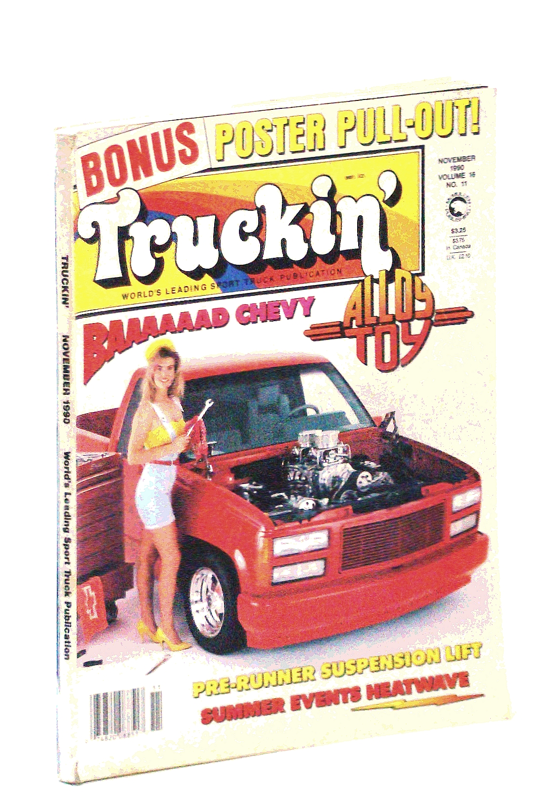 Image for Truckin' Magazine, November [Nov.] 1990: Alloy Toy (including Centerfold photo)/ Irene Lickl Cover Photo