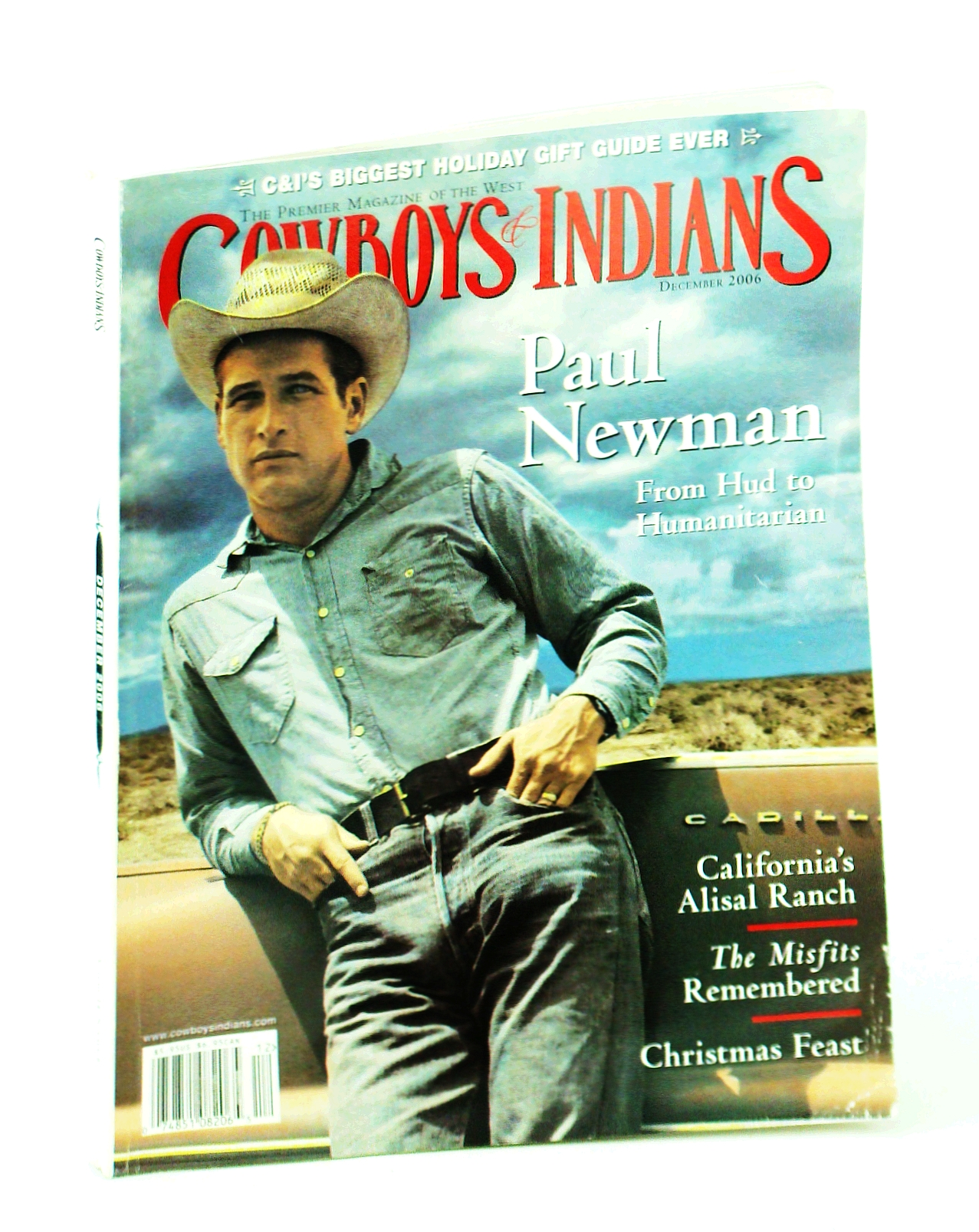Image for Cowboys and Indians - The Premier Magazine of the West, December [Dec.] 2006 - Paul Newman Cover Photo