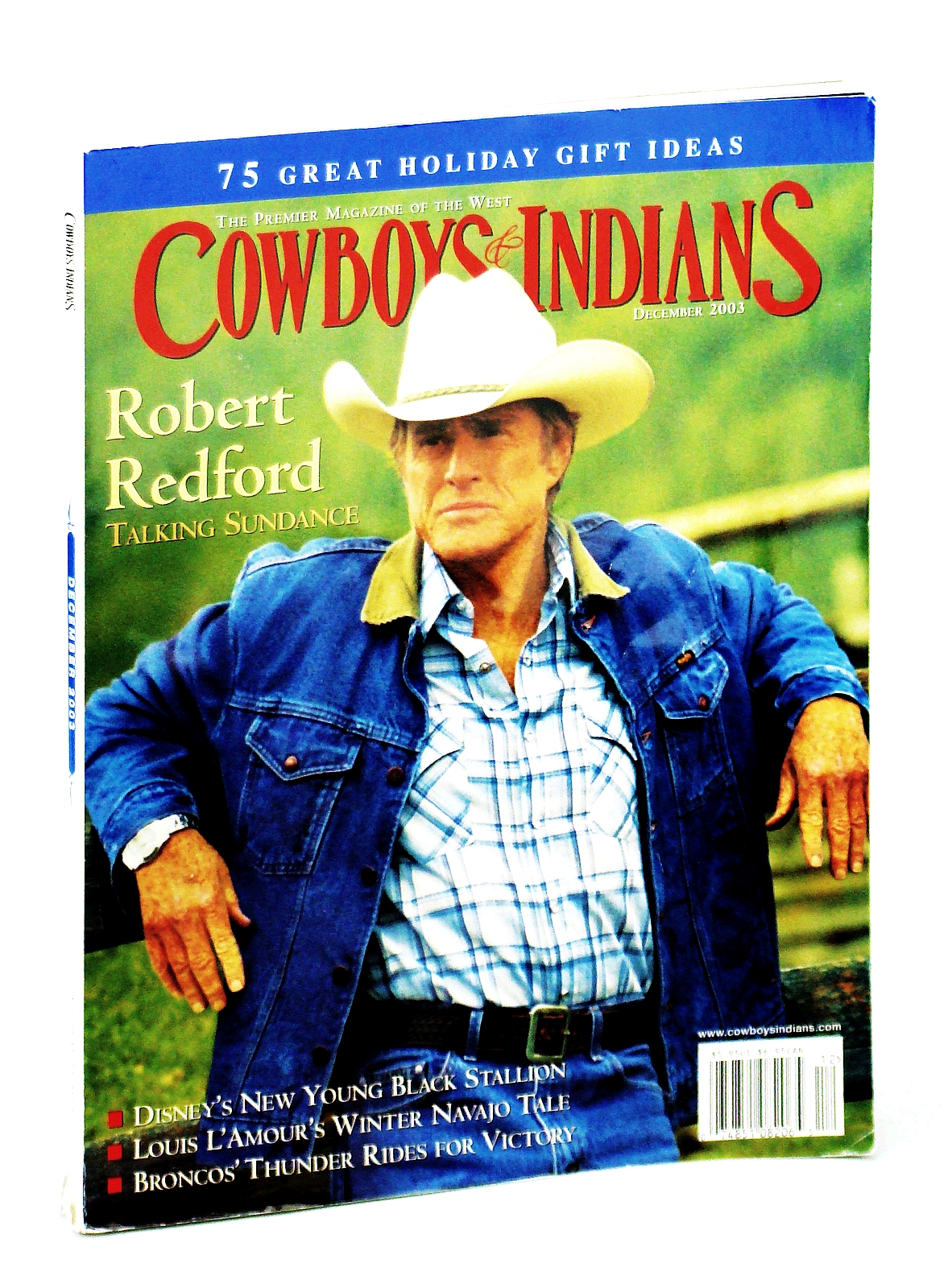 Image for Cowboys and Indians - The Premier Magazine of the West, December  [Dec.] 2003 - Robert Redford Cover Photo