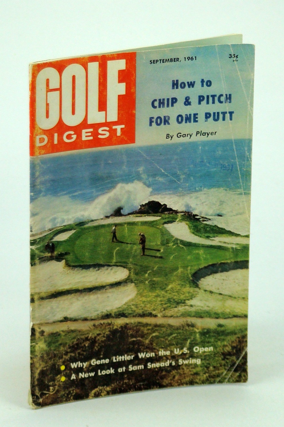 Image for Golf Digest - World's Largest Selling Golf Magazine, September [Sept.] 1961, Volume 12, No. 8 - Pebble Beach Seventh Hole Cover Photo