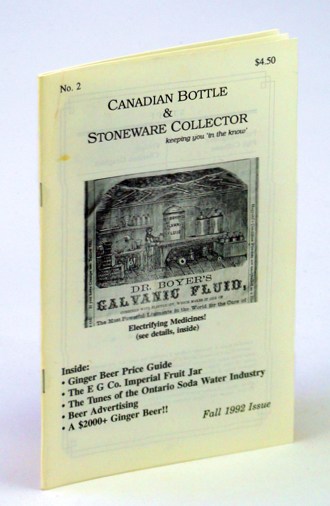 Image for Canadian Bottle & Stoneware Collector, No. 2, Fall 1992 [October / November / December]