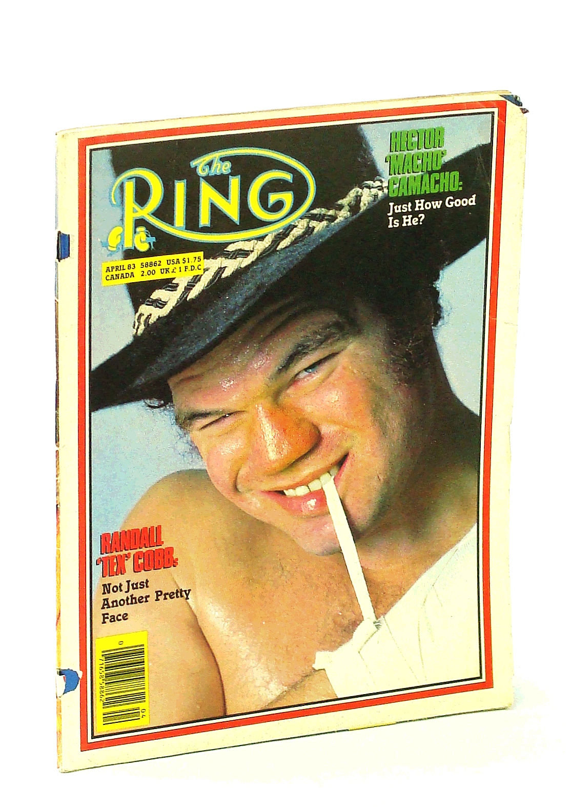 Image for The Ring (Magazine] - The Bible of Boxing, April 1983: Randall 'Tex' Cobb Cover Photo