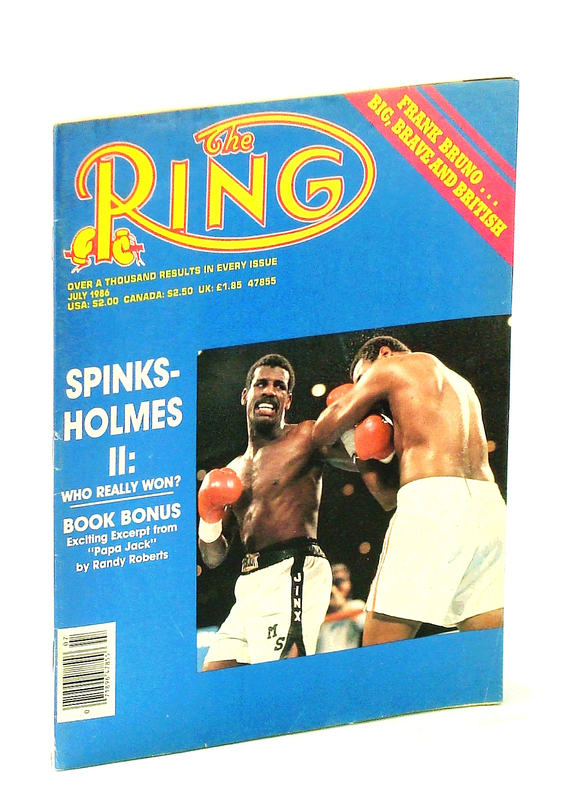 Image for The Ring [Magazine] - The Bible of Boxing, July 1986 - Spinks-Holmes II Cover Photo