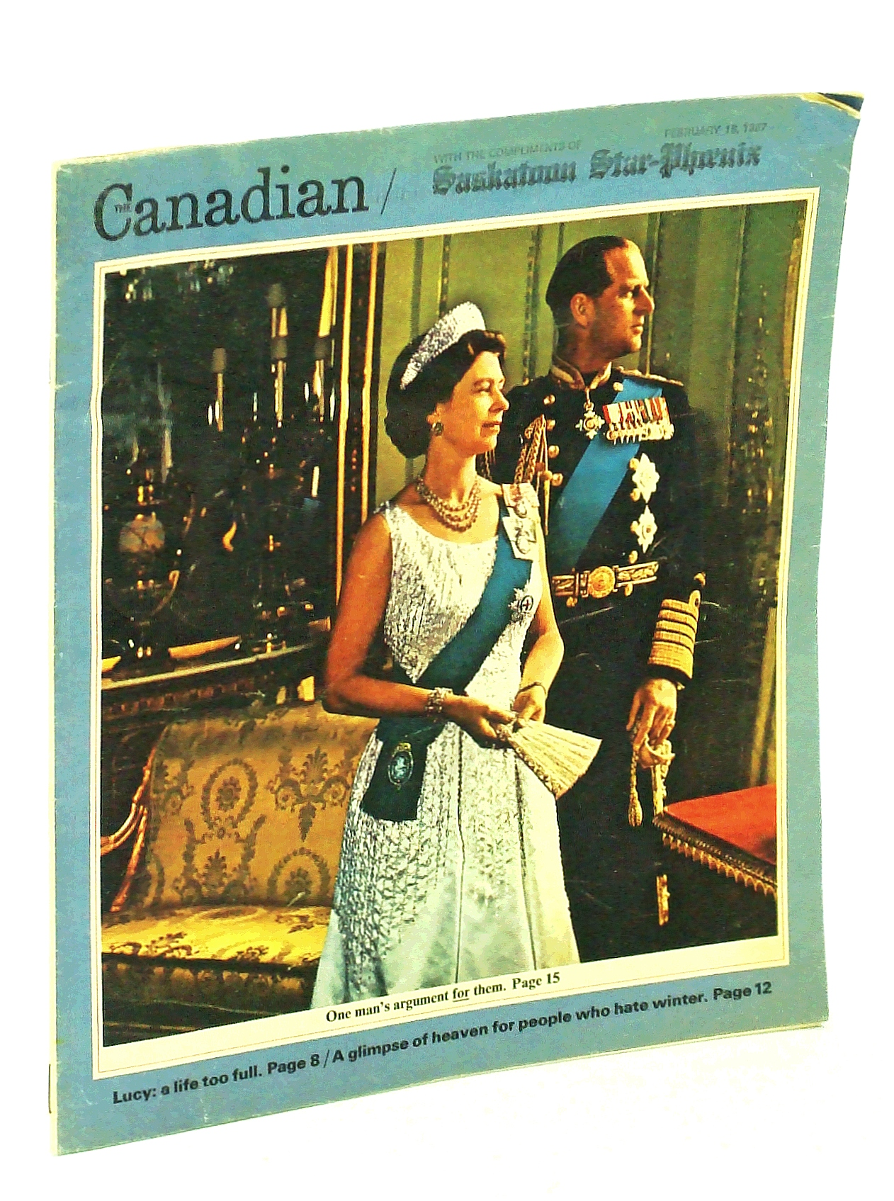 Image for Canadian Magazine, February [Feb.] 18, 1967: Claude Bissell - President of the U.of T. / The Fashions of Mintja deJong and Coosea McDermott / Curler Pappy Wood