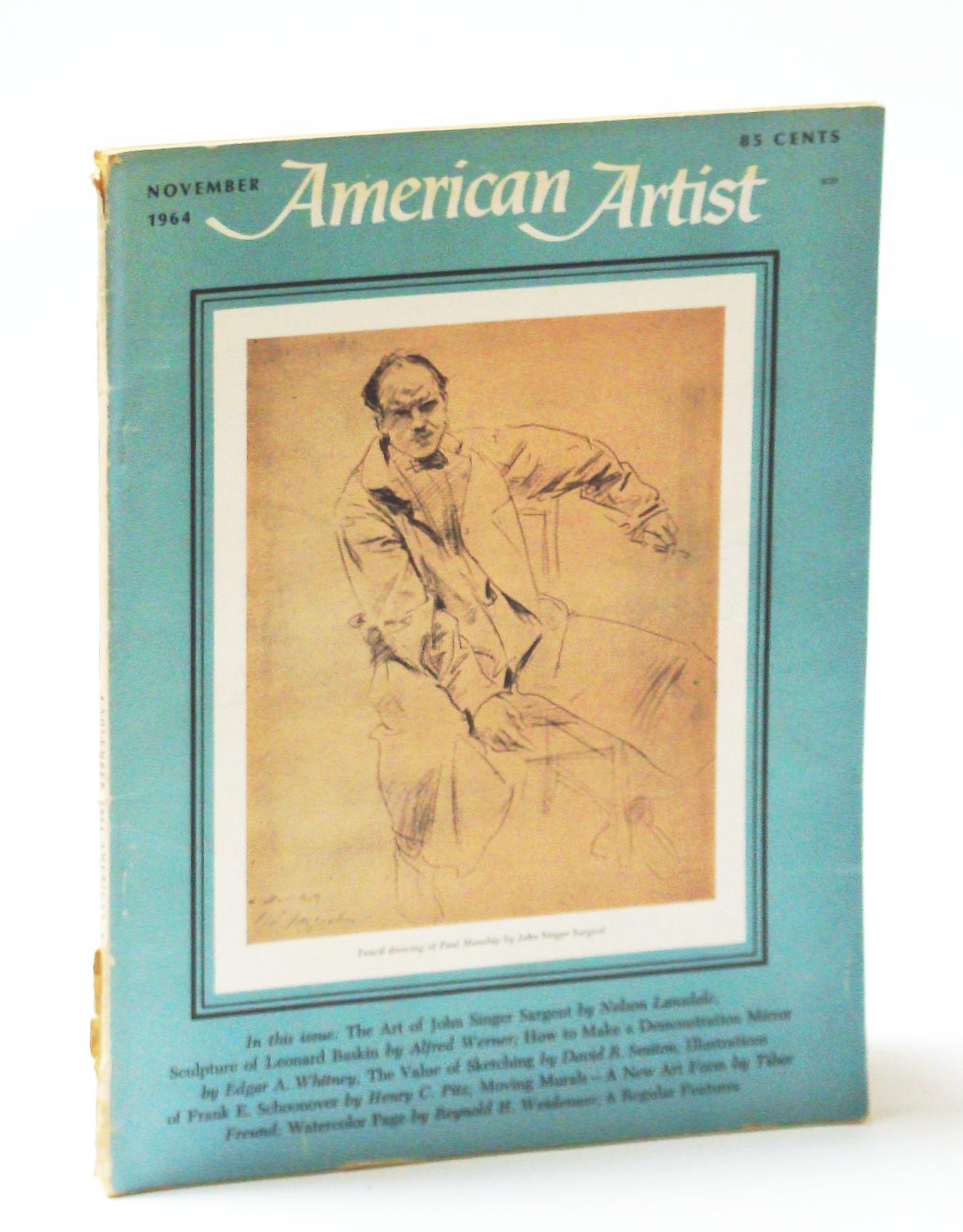 Image for American Artist Magazine, November (Nov.) 1964 - John Singer Sargent / Leonard Baskin