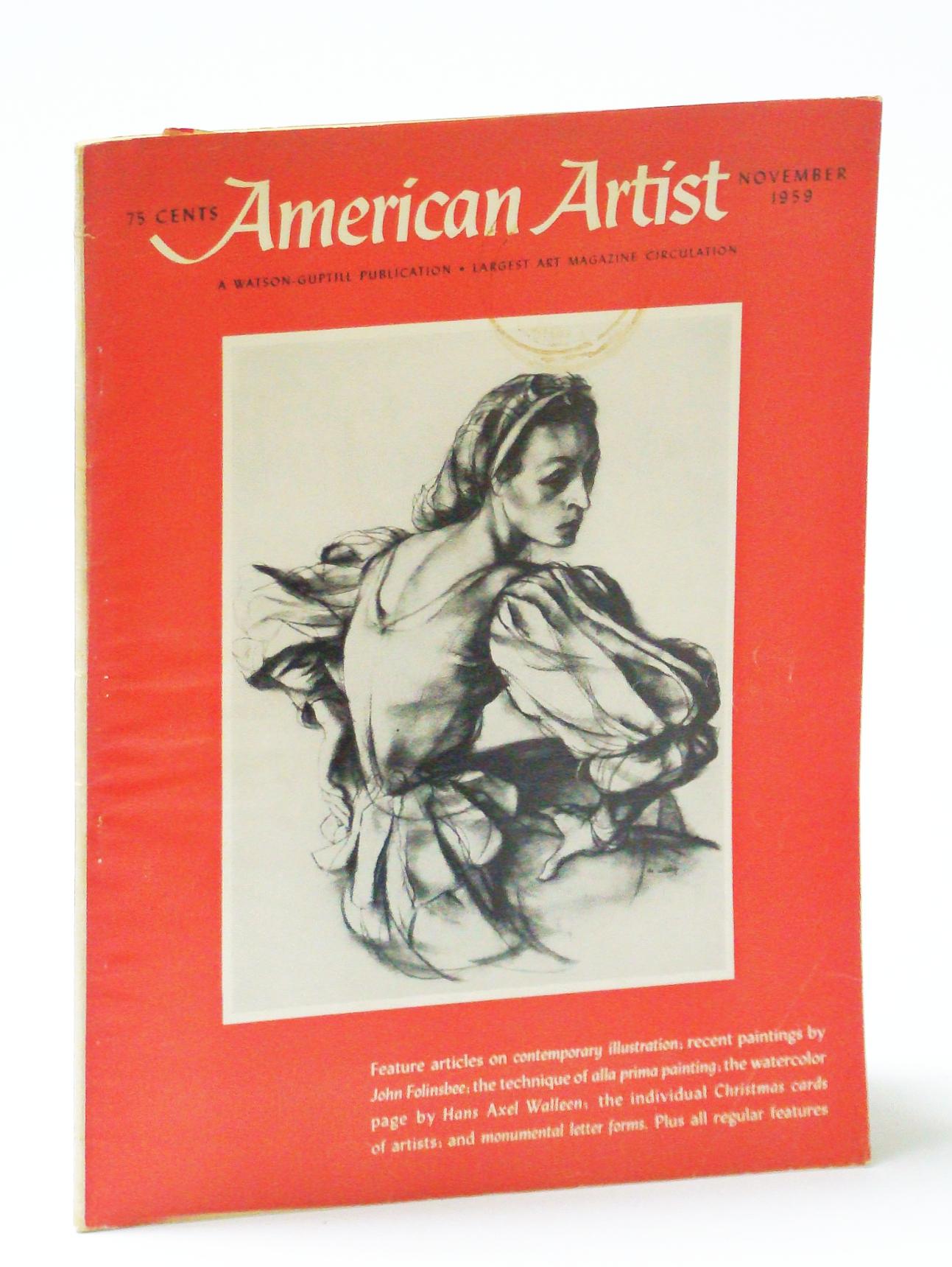 Image for American Artist Magazine, November (Nov.) 1959 - Hans Axel Walleen  / John Folinsbee