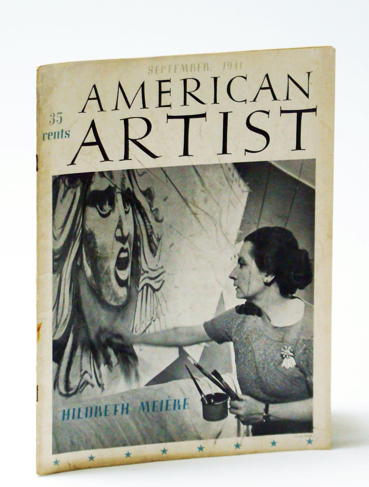 Image for American Artist Magazine, September (Sept.) 1941: Hildreth Meiere - Mural Painter (cover photo)